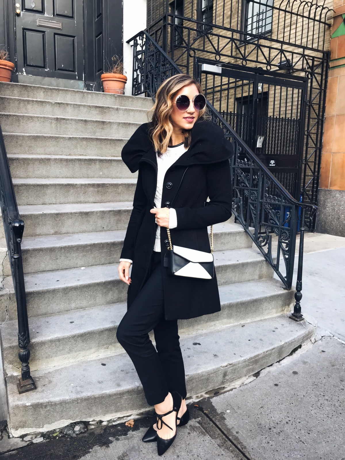 Zara-coat-holiday-holidays-thanksgiving-style-fashion-dressy-casual-office party-glam-chic-hair-shorthair-blonde-color-ZahavaNYC-Zahava-nyc-blogger-1bag3ways